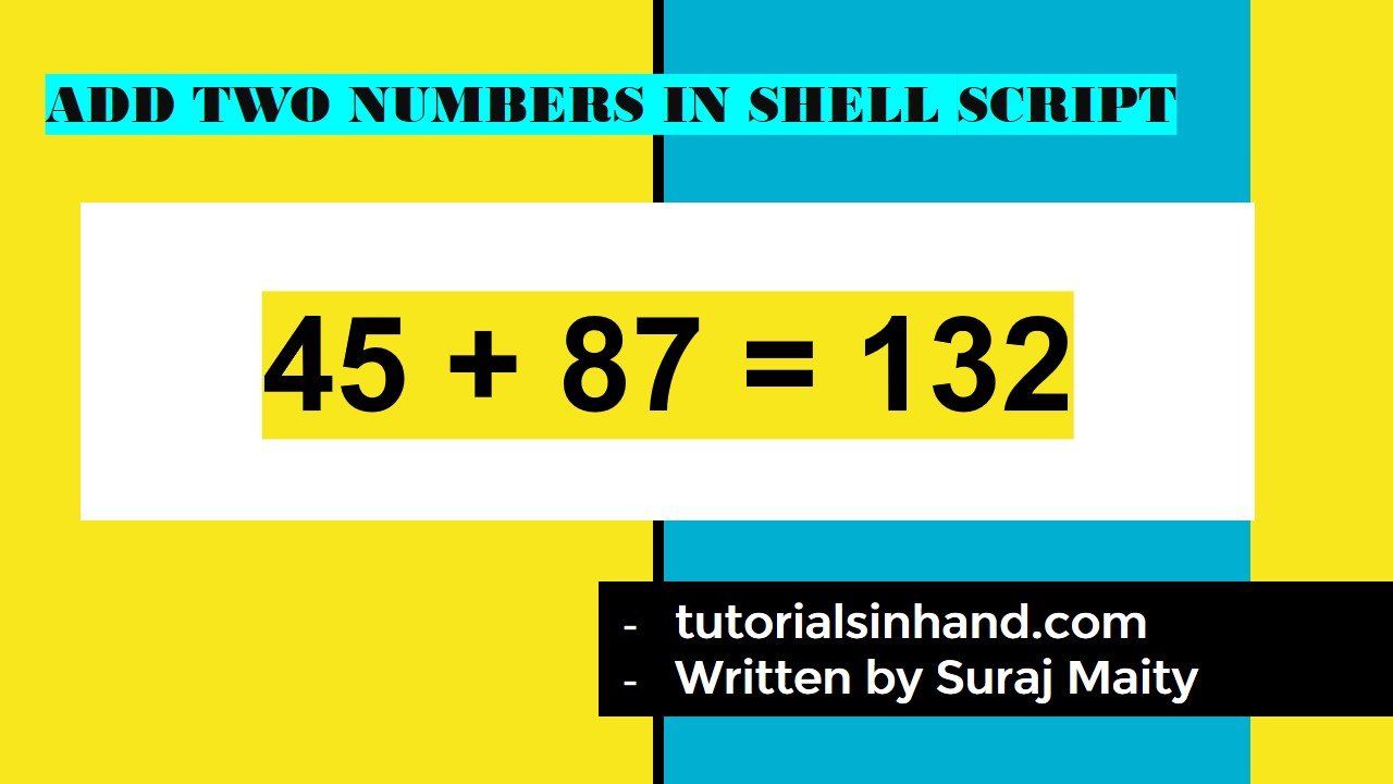 add two numbers in shell script